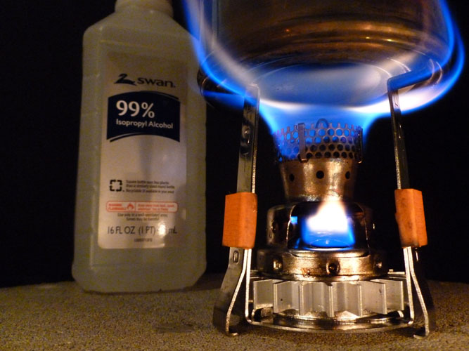 G-Micro PSL Wax Gasifier Burning 99% Isopropyl Alcohol
