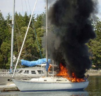 Stove Fire on Boat
