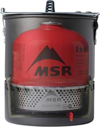 MSR Reactor Gas Cansister Stove Packed Away